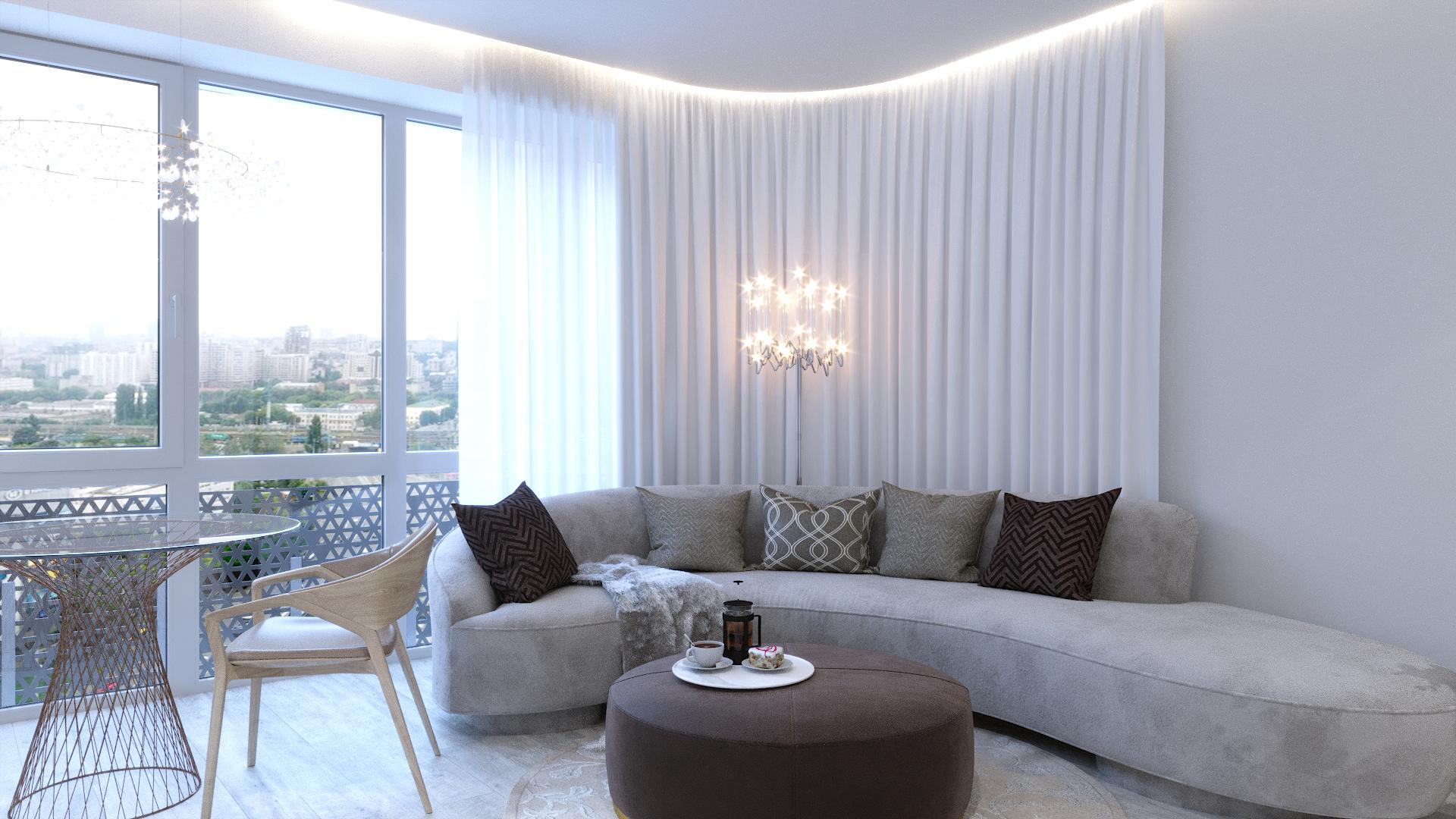 Белая квартира, 72 м2 | ст. м. Вокзальная | Слайд 3