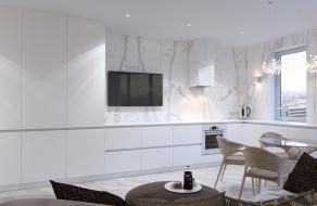 Белая квартира, 72 м2 | ст. м. Вокзальная | Слайд 1