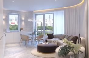 Белая квартира, 72 м2 | ст. м. Вокзальная | Слайд 4