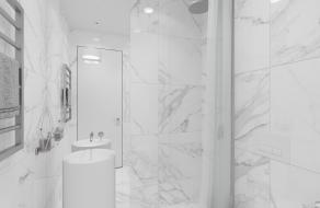 Белая квартира, 72 м2 | ст. м. Вокзальная | Слайд 11