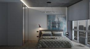 Спальня большая вид на кровать 3